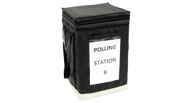 Versapak's collapsible ballot box ensures the integrity of elections
