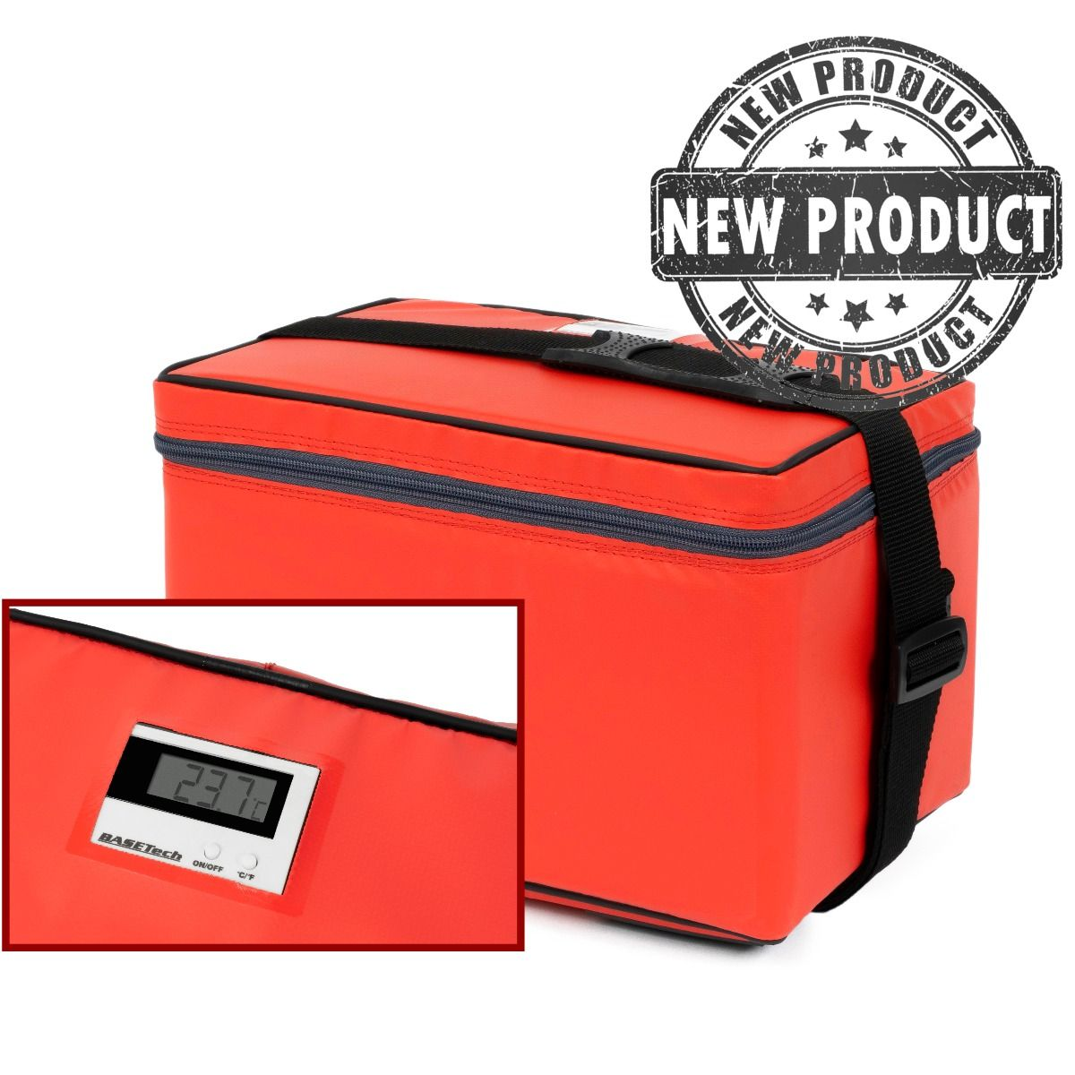 Insulated Medical Transport Bag - Integrated Thermometer
