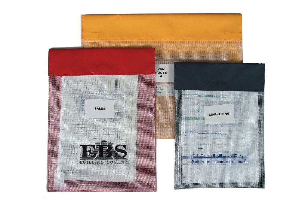Large Reusable Internal Document Pouches