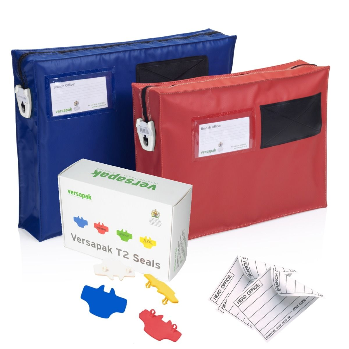 Small Gusset Mail Pouches - Security Seals Bundle
