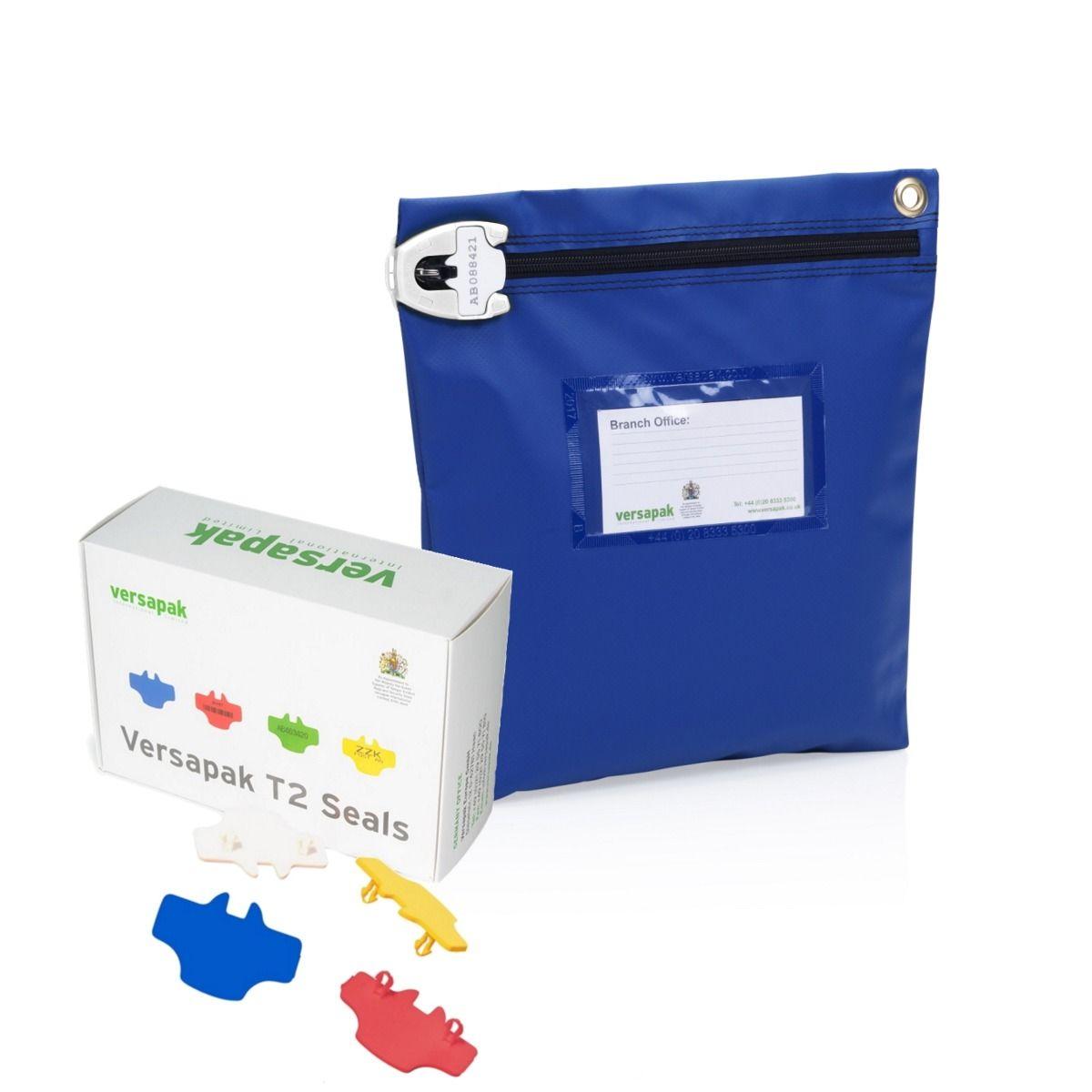 Medium Cash Bag - Security Seals Bundle