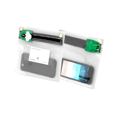 Clear Flat Security Wallet