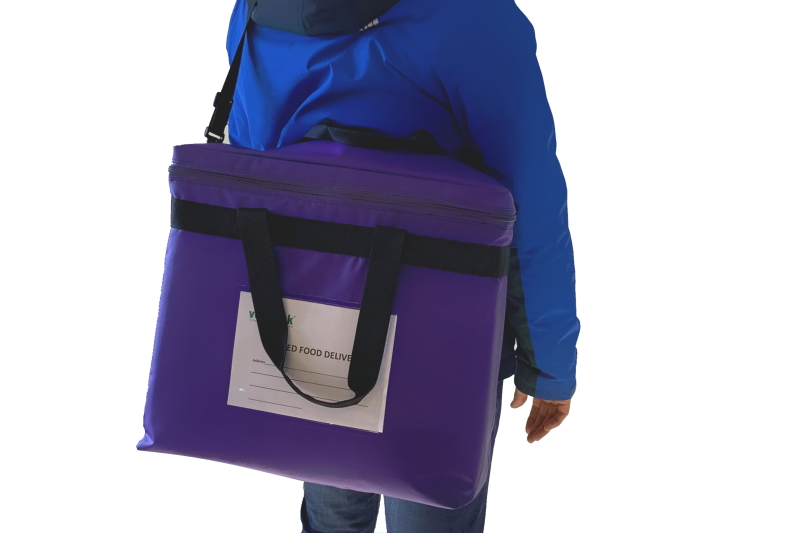 Food Delivery Shoulder Strap Carrier for chilled grocery or hot food