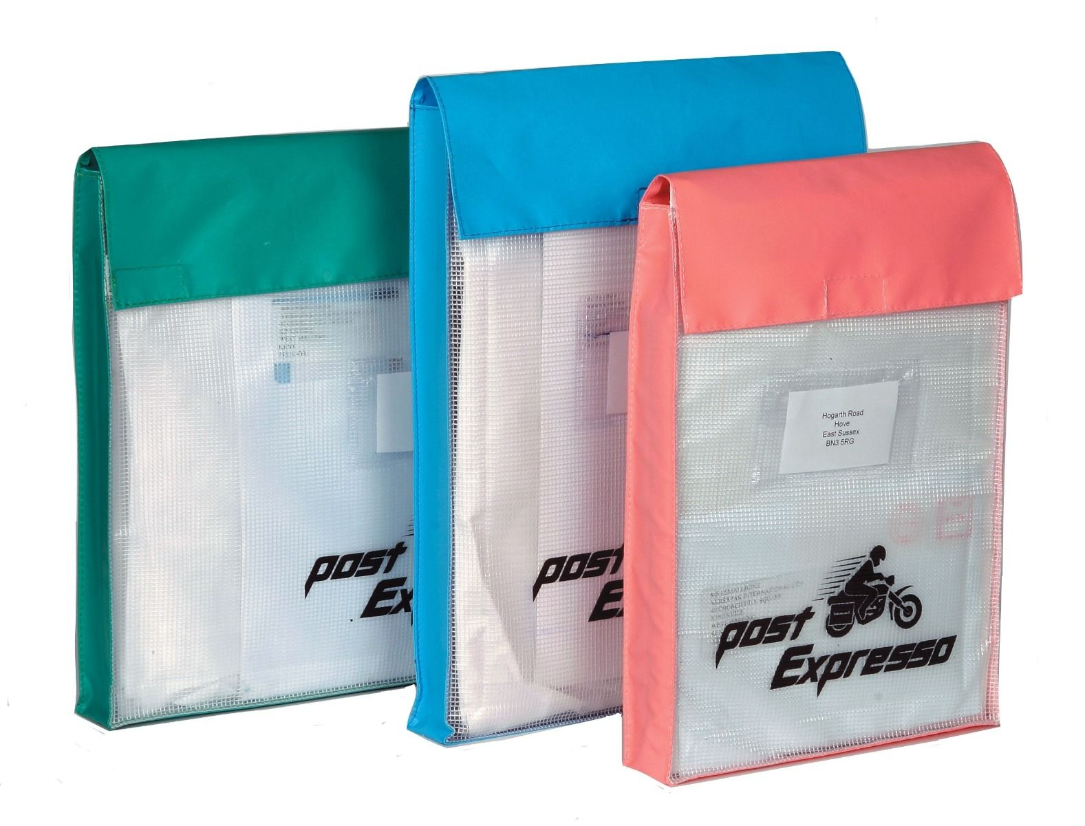 Large Reusable Internal Document Pouches - Gusset