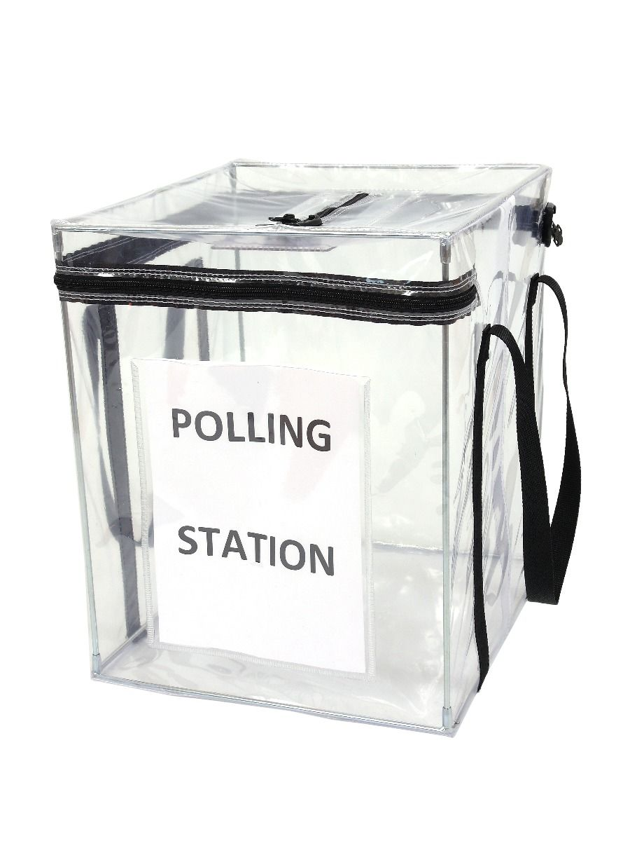 Large Clear Ballot Box - Tamper Evident