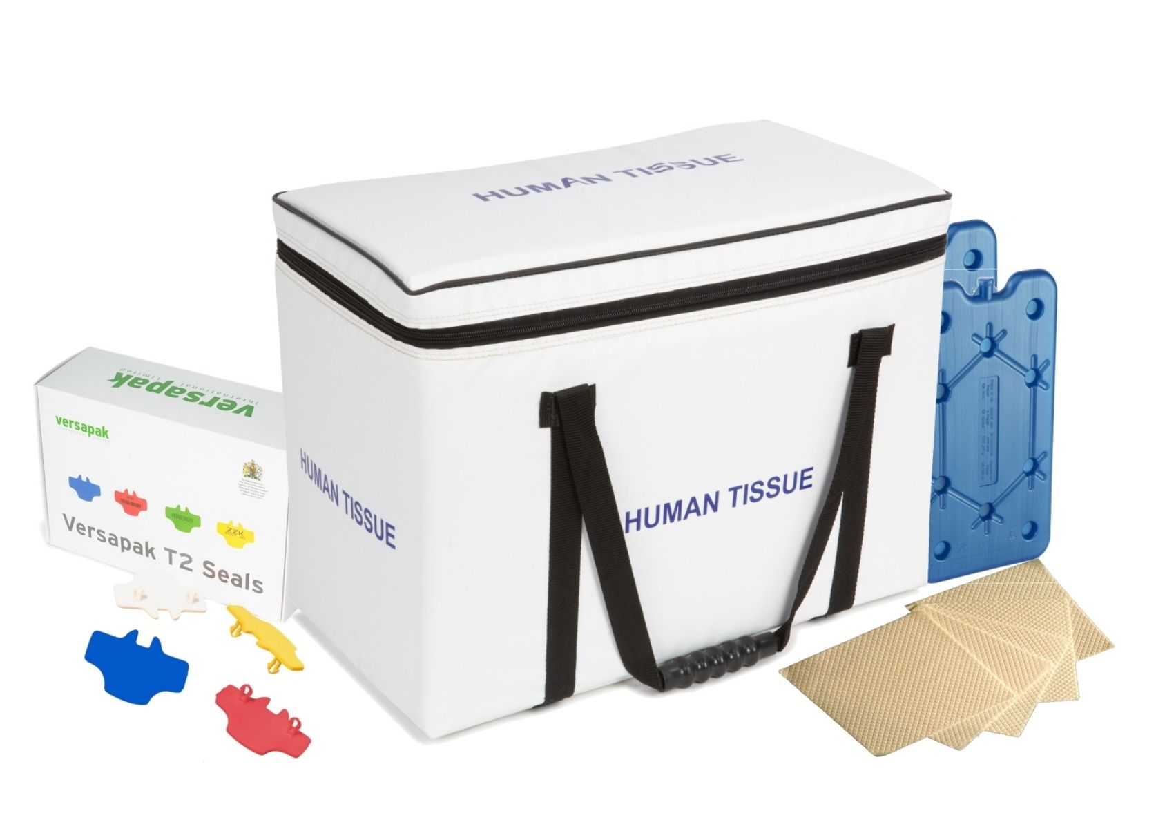 Medium Insulated Medical Carrier Thermal Bundle - Human Tissue