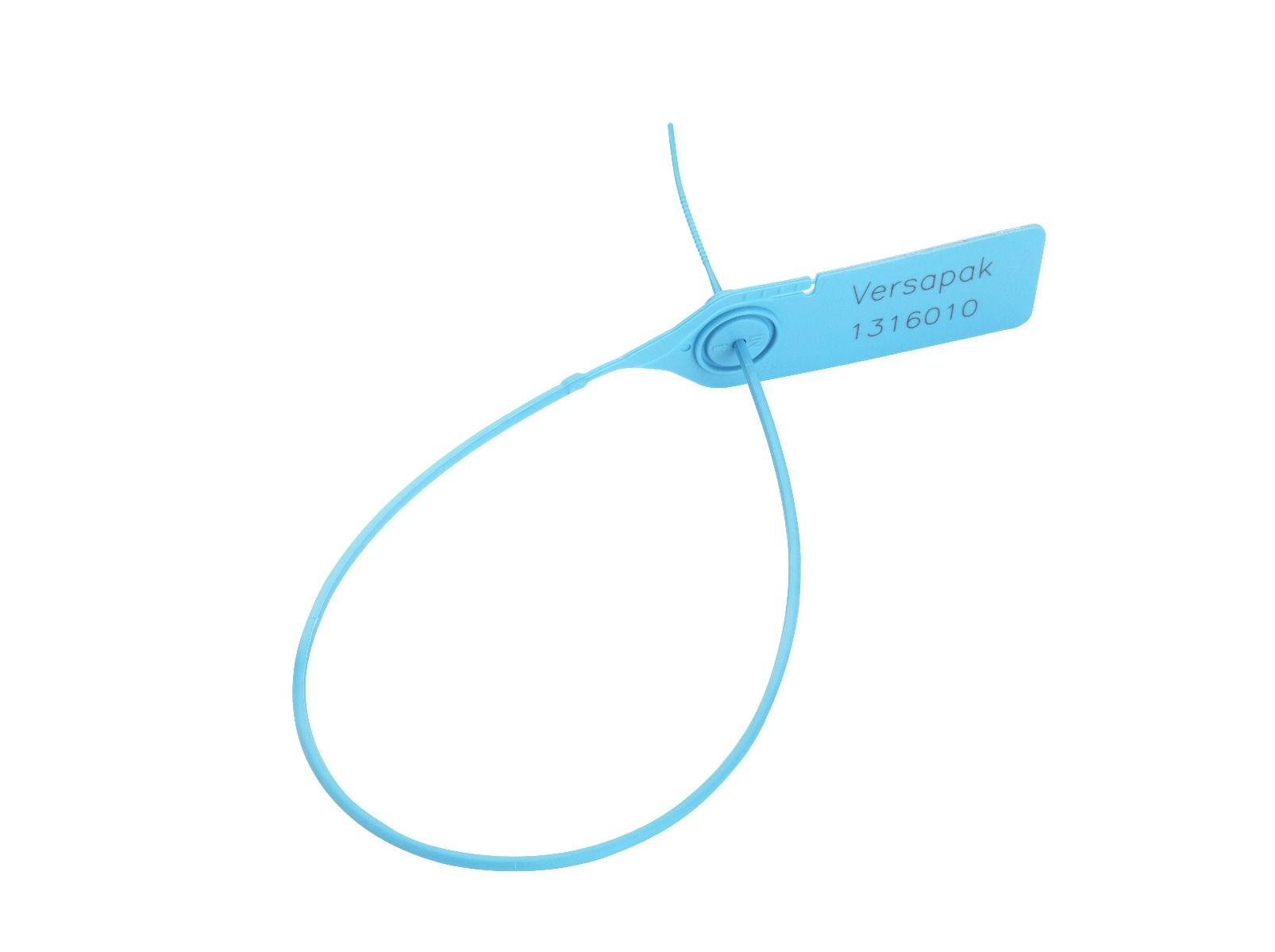 Plastic 200mm Tear Off Security Seal - Smooth Strap Metal Jaw