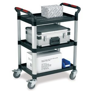 Three Shelf Office Trolley