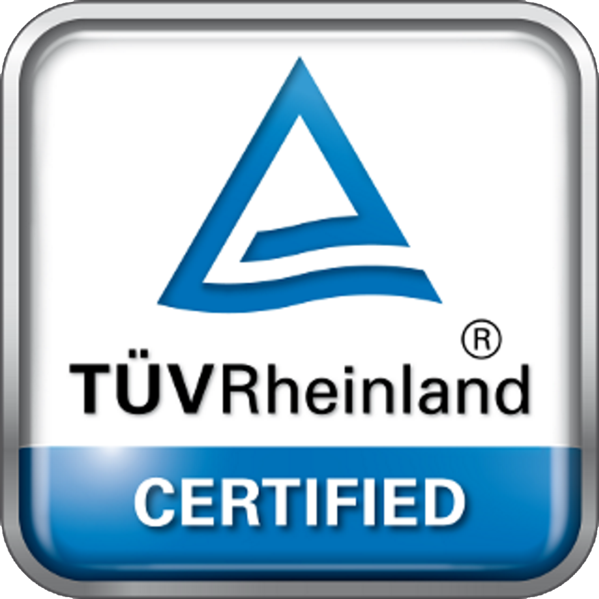 TUV Tested and Certified logo
